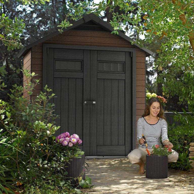 Wood Plastic Composite Sheds - Fusion 7.5 x 4 ft Shed
