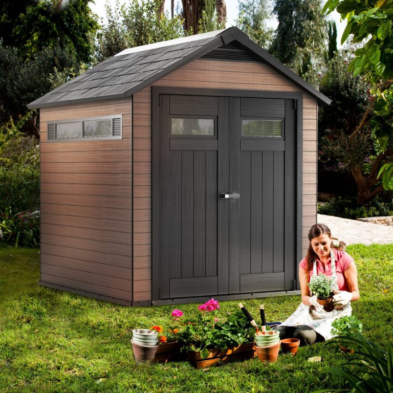 Fusion 7.5 ft x 7 ft Composite Shed