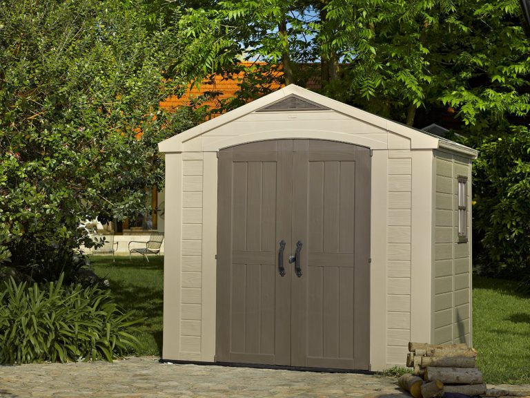 Outdoor resin storage sheds quality plastic sheds for Resin garden shed