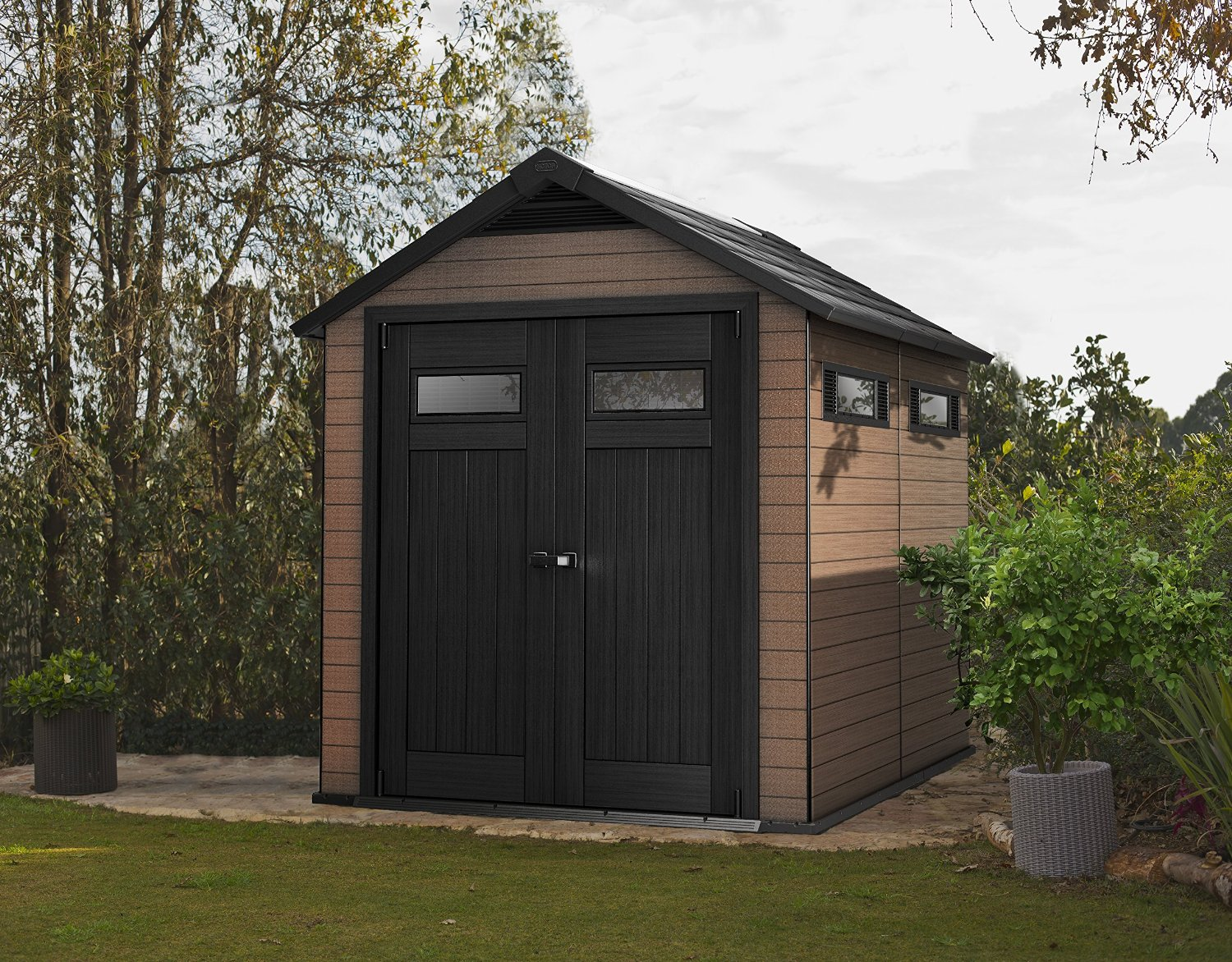 Keter Fusion 759 Garden Shed Weather Resistant Sheds