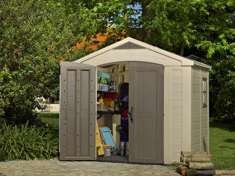 Plastic sheds 8x6 quality plastic sheds for Resin garden shed