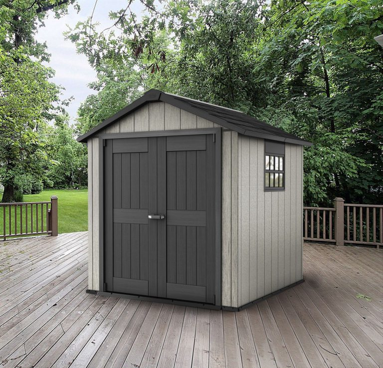 Resin garden storage sheds quality plastic sheds for Resin garden shed