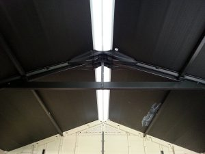 Steel Truss System Under-girds Larger Factor Sheds