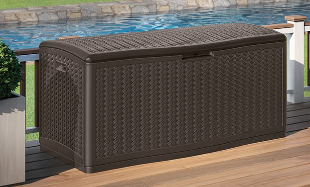 Suncast 124 gallon capacity deck box