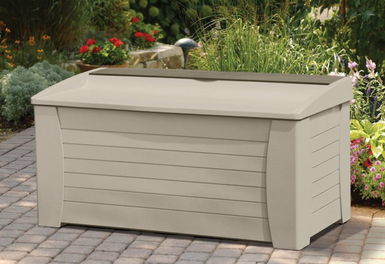 Suncast 127 gallon capacity storage box seat