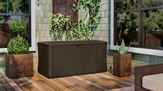 Suncast 134 gallon deck box