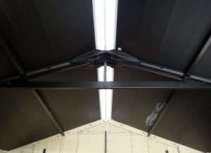 Steel Supports Reinforce The Roof Structure