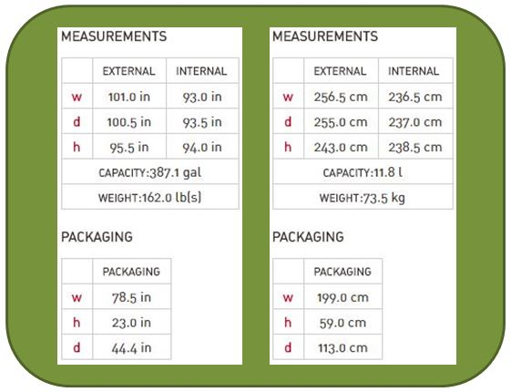 Keter Factor 8x8 Measurements