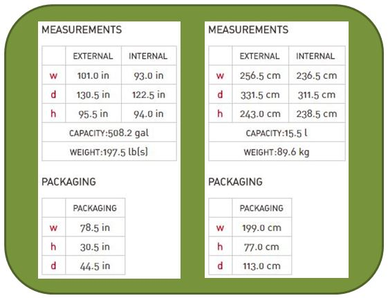Keter Factor 8x11 Measurements
