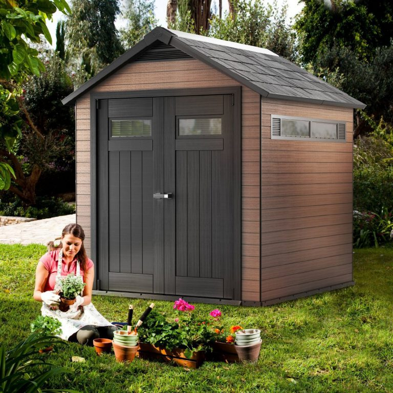 Fusion 7.5 x 7 ft Wood Plastic Composite Shed