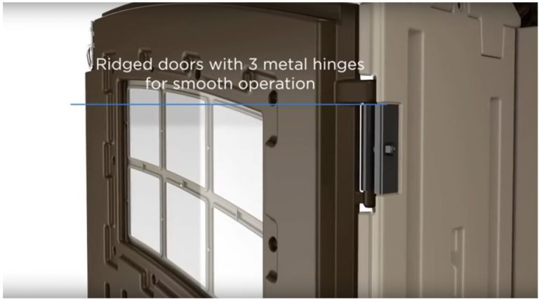Suncast Hinges deliver a Quality Opening and Closure