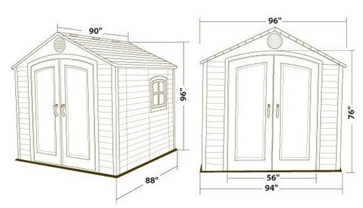 Measurements: Lifetime 6411 Shed