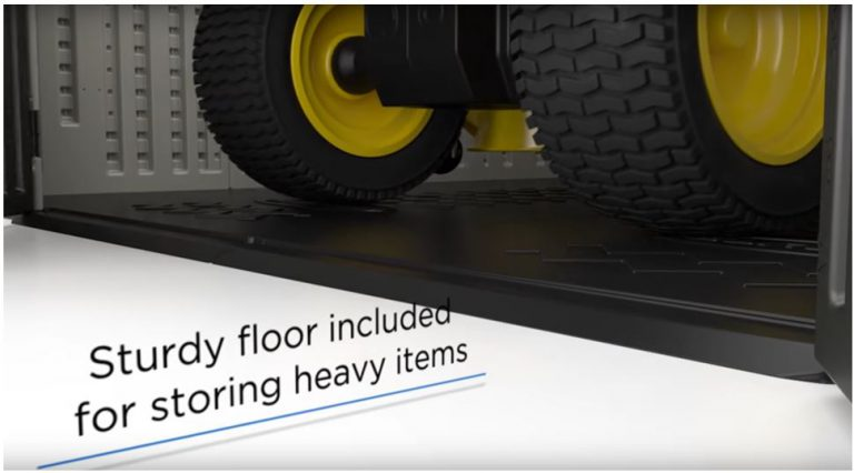 Heavy Duty Built-In Floor that Keeps Storage Clean