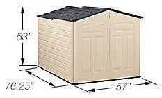 Measurements of the Rubbermaid Slide Lid Shed