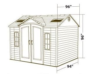 Measurements of the Lifetime 10 x 8 ft Shed