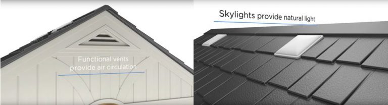 Air Vents Provide A Fresh Environment - Skylights Allow Daylight To Flood In