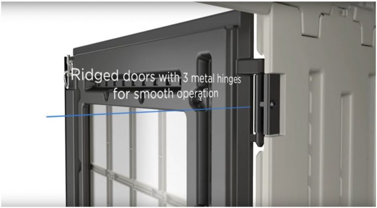 Door Windows Deliver Natural Light: 3 Metal Hinges Ensure Smooth Operation