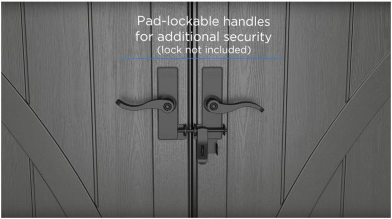 Wide Robust Lockable Doors Allow For Easy Access