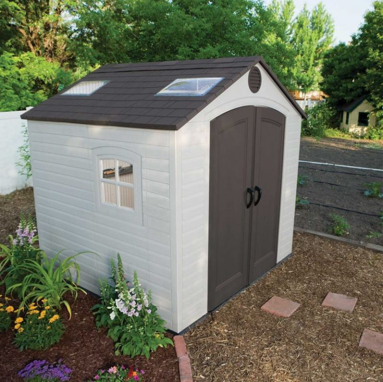 8x8 Resin Storage Shed - Lifetime 8 x 7.5 ft Shed