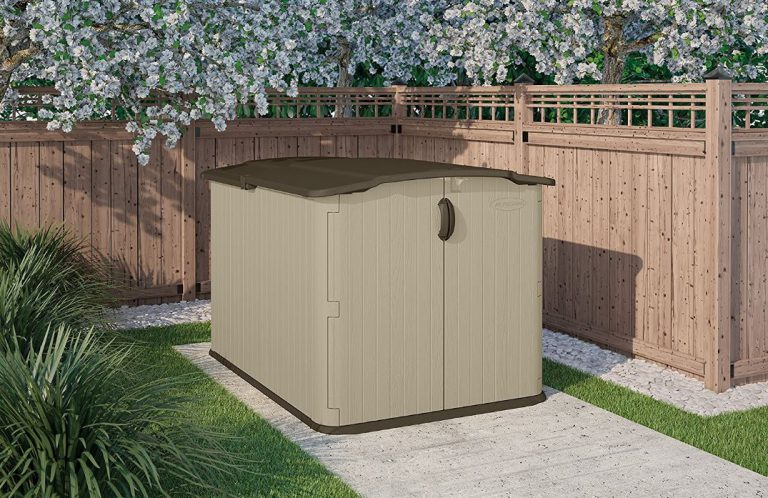 Low Profile Storage Sheds - Suncast Glidetop Shed