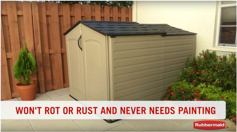Virtually Maintenance-Free Rubbermaid Horizontal Shed