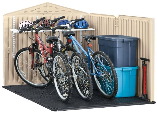 Low Profile Storage Sheds - Rubbermaid Slide-Lid Shed