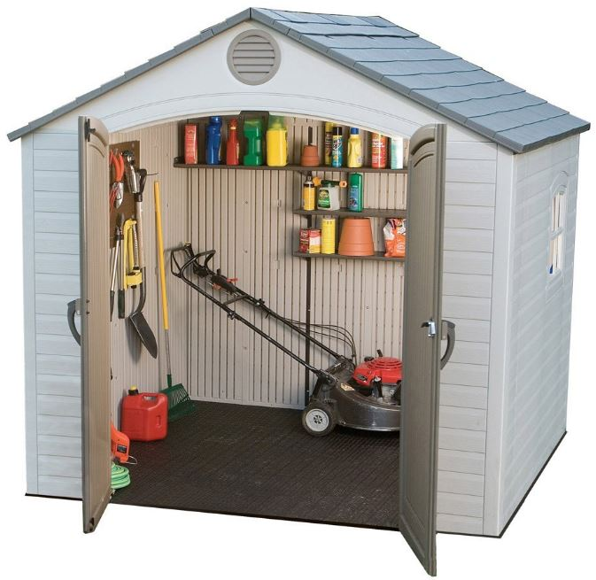 Lifetime's 8 x 5 ft Sturdy Resin Shed