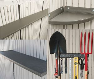 Included Shelving and Pegstrips
