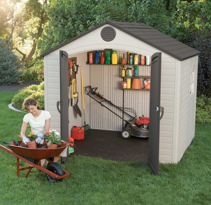 Lifetime 8 x 7.5 ft Quality Plastic Shed