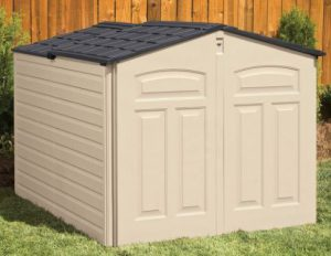 Charmant Rubbermaid Slide Lid Shed. Horizontal Storage Sheds Outdoor