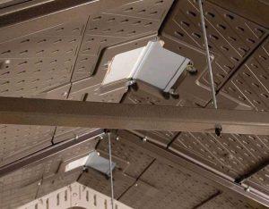 5 A-frame steel trusses reinforce Lifetime's 15 x 8 ft roof
