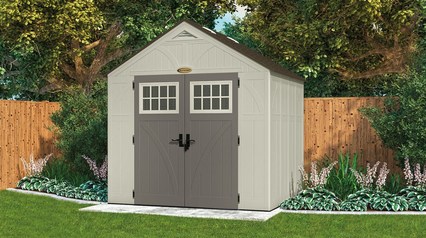 Suncast Tremont 8 215 7 Ft Shed Weather Resistant Sheds