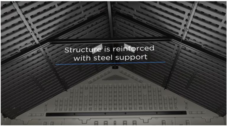 Tremont's 8 x 16 ft Reinforced Steel Structured Supports