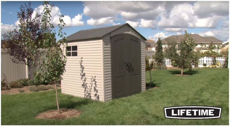 Lifetime's Popular 7 x 7 ft Garden Shed