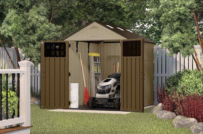 suncast everett 6 x 8 ft garden shed