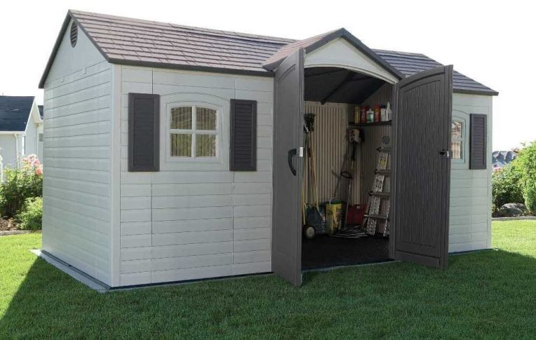 Inside Lifetime's 15 x 8 ft Storage Shed