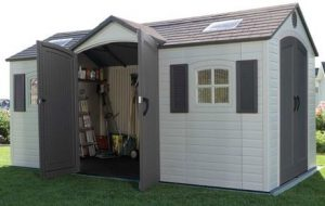 Dual Entry Storage Sheds