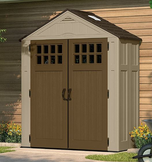 Suncast Everett 6 x 3 ft Resin Shed