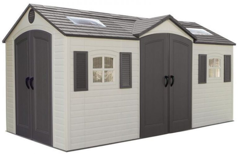 Lifetime 15 x 8 ft Dual Entry Garden Shed