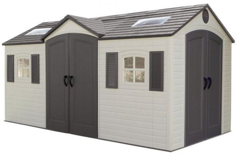 8 15 Shed Plans : Dual entry storage sheds ft quality plastic