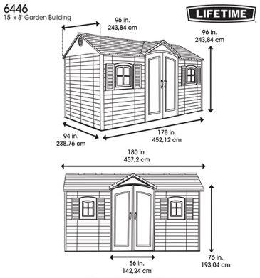 Lifetime 15 x 8 ft Measurements