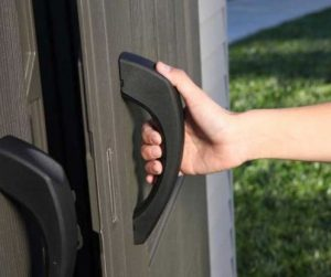 Easy Grip Handles open the steel reinforced doors