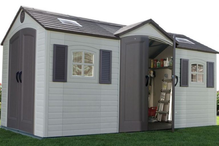 Lifetime 15 x 8 ft Dual Entry Storage Shed