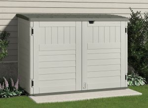 Horizontal Plastic Storage Shed