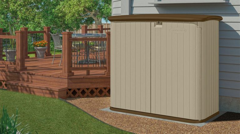 Suncast Outdoor Storage Cabinet & Outdoor Patio Storage Cabinet - Quality Plastic Sheds