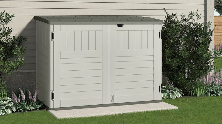 Horizontal Plastic Storage Shed - Suncast Stow-Away
