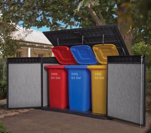 Triple Wheelie Bin Storage & Triple Wheelie Bin Storage - Quality Plastic Sheds