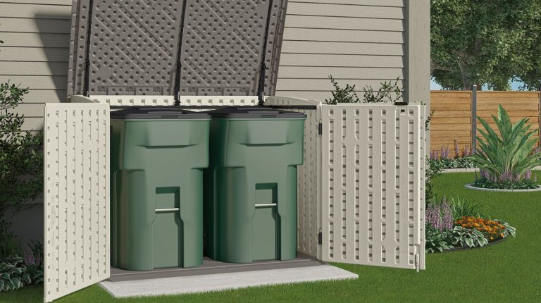 Horizontal Plastic Storage Shed - The Stow-Away