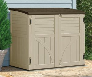grays storage x sheds plastic horizontal p suncast the stow home depot ft away in resin shed