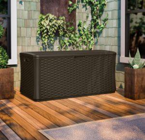 Outdoor Wicker Deck Box Storage